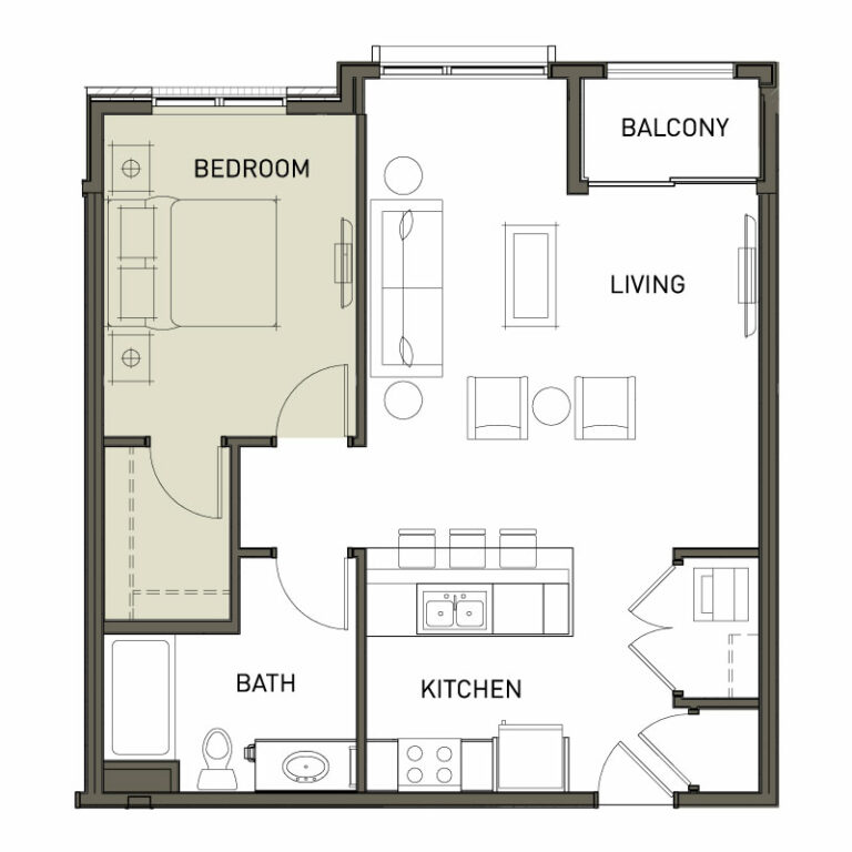 1 Bedroom 1 Bath Apt