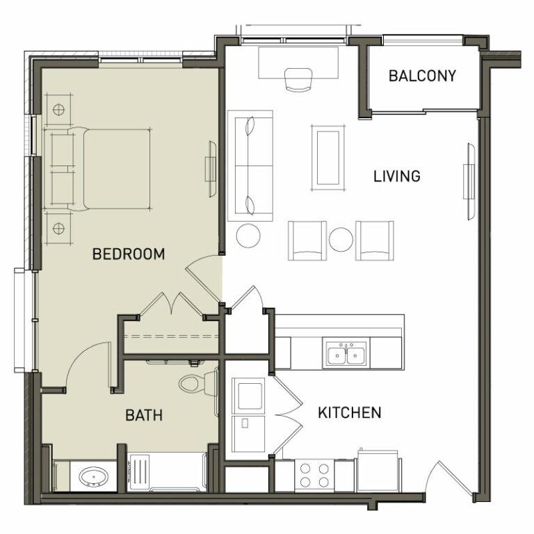 Large 1 Bedroom 1 Bed Apt.