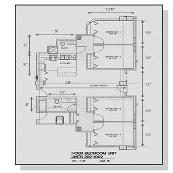 Four Bedroom Unit Floor Plan