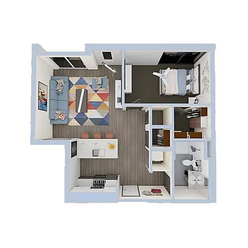 A1-1bedroom-500x