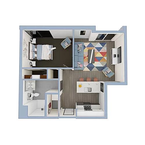 A2-1bedroom-500x