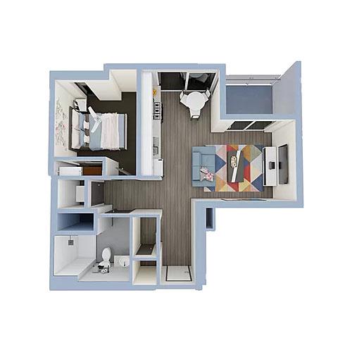 A3b-1bedroom-500x