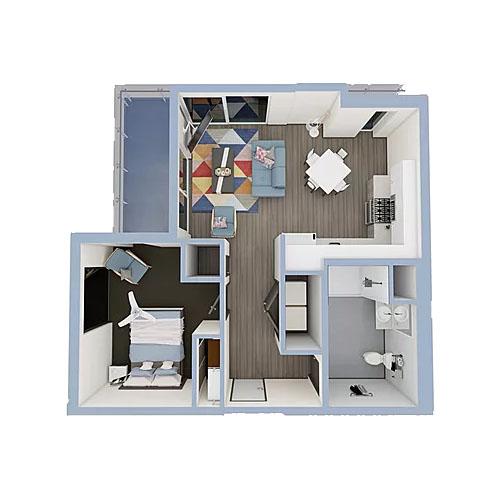 A5a-1bedroom-500x