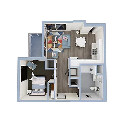 A5b-1bedroom-500x