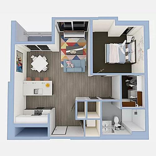A6b-1bedroom-500x