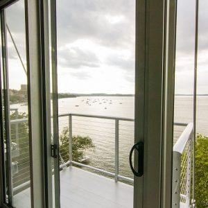 Window Door to Balcony over Water